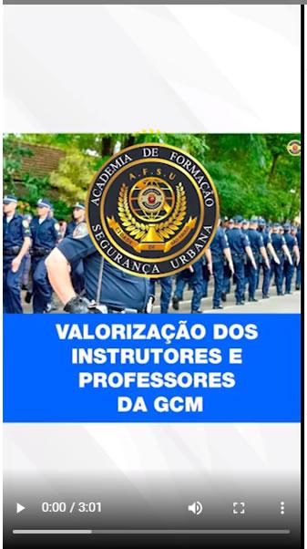 Valorização dos Instrutores e Professores da GCM